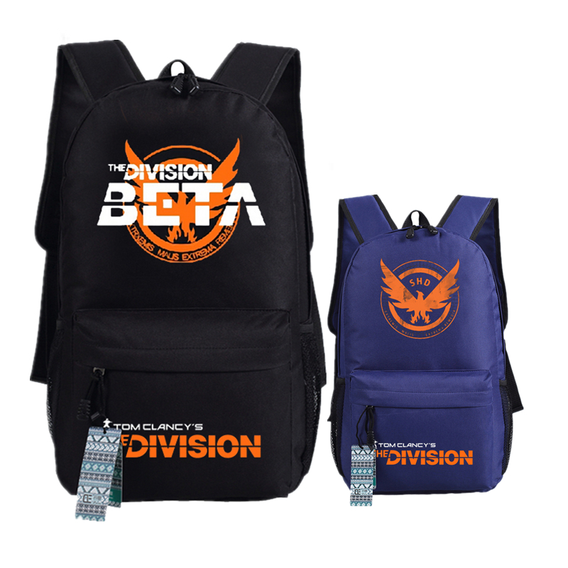 Game Tom Clancy's The Division Battle Printing Military Backpack Canvas Laptop Backpack Men Travel Bags School Mochila Feminina