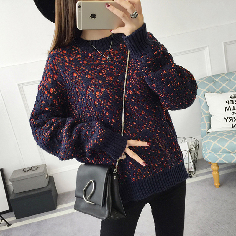 NEW hot sale women s autumn winter long sleeve loose knit sweaters woman college wind casual
