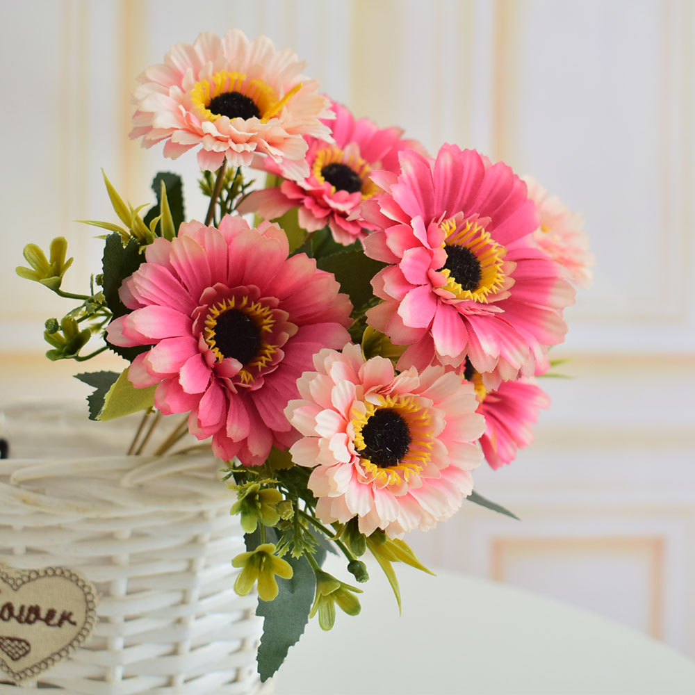 Artificial flowers silk daisy gerbera for home living room wedding artificial flowers silk daisy gerbera for home living room wedding garden yard shop table vase decoration izmirmasajfo