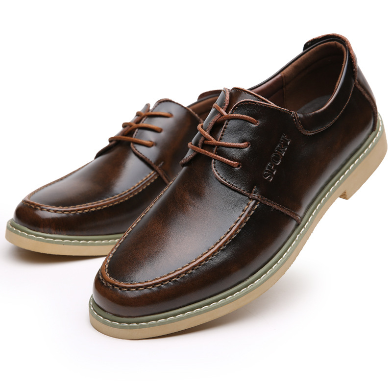 Hot Sale Fashion Winter Men's Leather Men Dress Shoes, Casual Brand Men Oxford, Business Genuine Leather Men Shoes