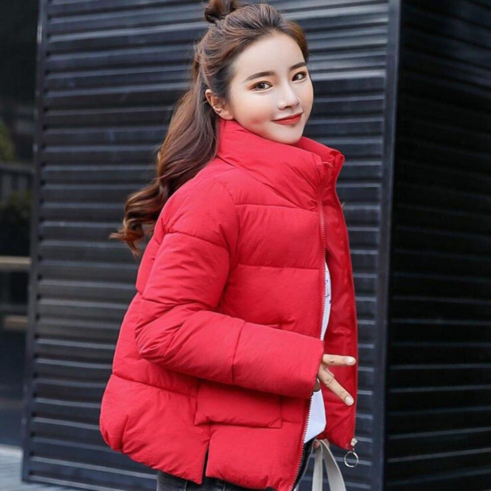JKKUCOCO Newest Cotton Jacket Stand Collar Suatans Warm Well Women Winter Jacket Fashion Solid Winter Coat