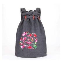 Retro style women printing backpack national travel bag for girl backpacks for teenage girls bucket bag mochila