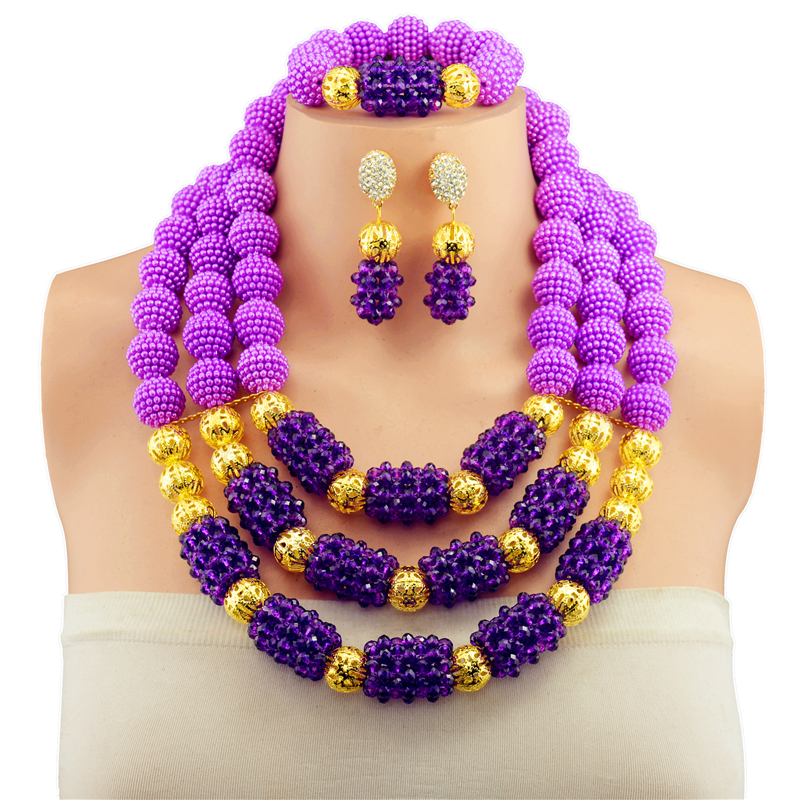 Nigerian Wedding Gifts: 2017 Top Purple Bridal Gift Nigerian Wedding African Beads