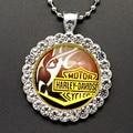 New BL0116 Round Rhinestone Punk Glass cabochon Necklace 60CM 2 Size DIY jewlery Stainless steel chain wholesale