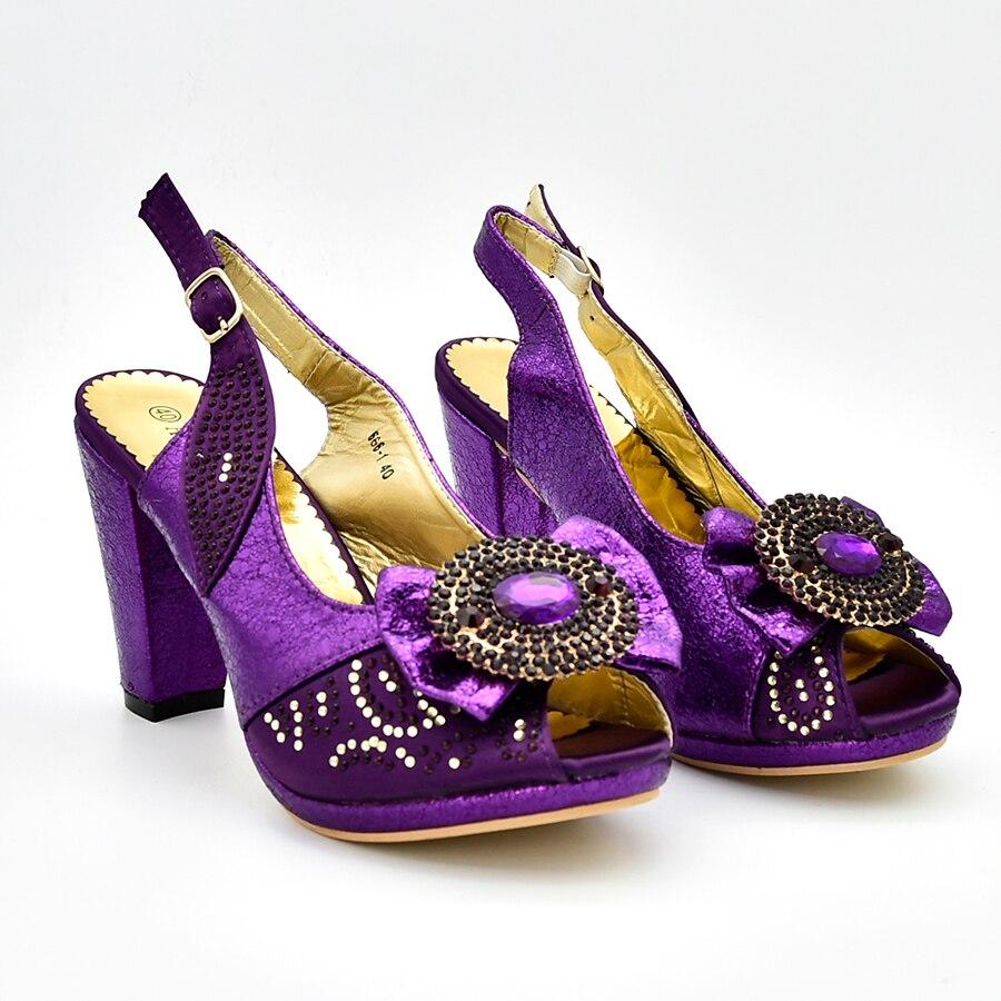 4 Assortis Décoré Sacs Italiennes Arrivée Mariage Nigérian Chaussures De Sac 2 Femmes Italie Avec Les 3 Nouvelle Le Et Pour 1 Ensemble Strass x4Bqngn