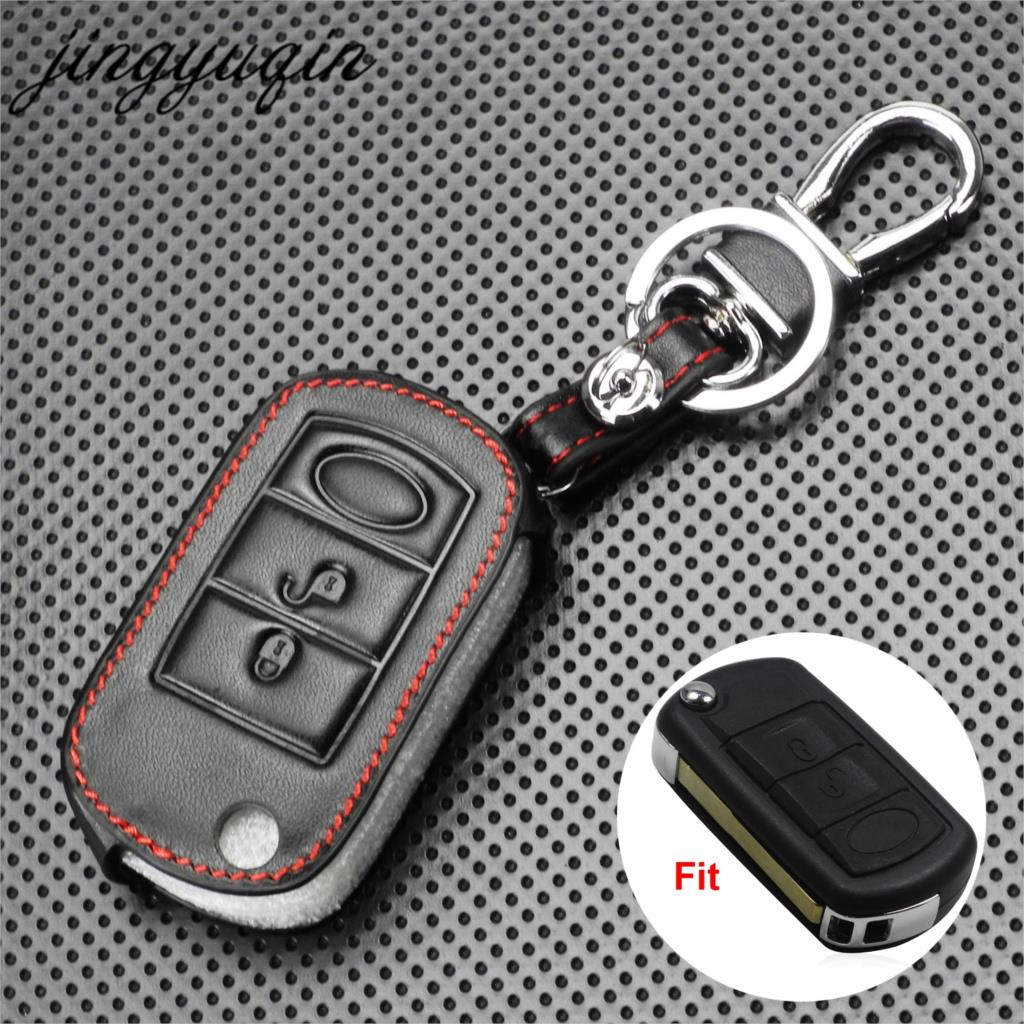 ontto for Land Rover Car Key Cover Zinc Alloy Metal Key Fob Cover Holder Protector for Defender Discovery Evoque LR4 Range Rover Sport Jaguar 5-Button Remote Car Key Case Keyring Silver Red
