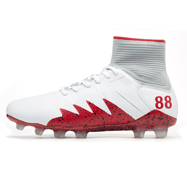 d68d28632740 High Ankle Men Football Shoes TF/FG/AG Long Spikes Training Football Boots  Hard-wearing Soccer Shoes High Top Soccer Cleats
