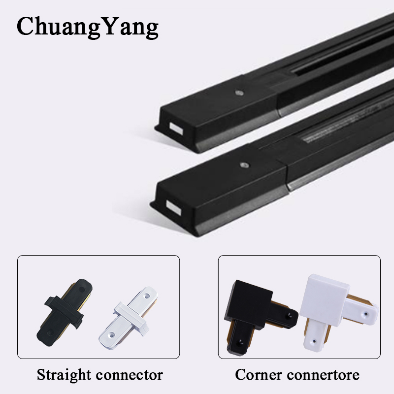 2pieces/Lot  0.5M Track Rail For LED Track Light Lamps Lighting Universal Aluminum 2-wire Rail For Clothes Shop Rail Connector