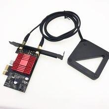 Черная внешняя антенна Чипсет Intel 9260 9260NGW 802.11ac 1730 Мбит/с настольный адаптер + Bluetooth 5,0