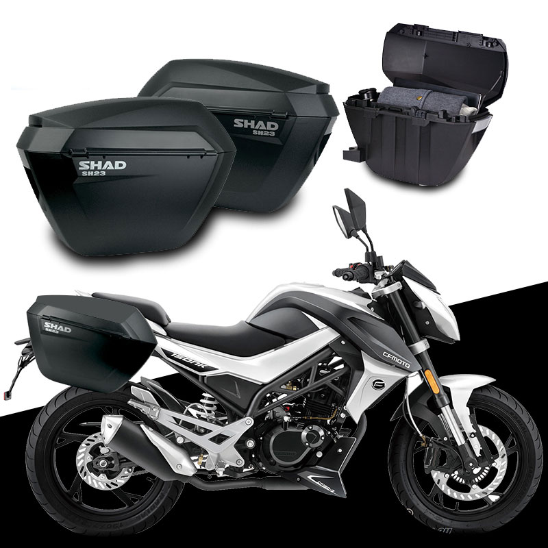 for CFMOTO CF150-3 150 NK 150NK SHAD SH23 Side Boxs+Rack Set Motorcycle Luggage Case Saddle Bags Bracket Carrier System стоимость