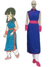 Free Shipping Dragon Ball Z Chi Chi Cheongsam Anime Cosplay Costume