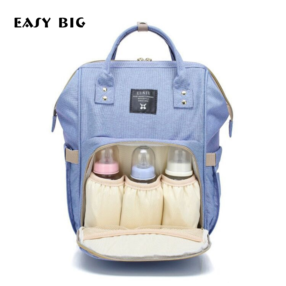 EASY BIG Portable Mummy Maternity Nappy Bag Large Capacity Baby Bag Travel Backpack Designer Nursing Bag For Baby Care BCS0023