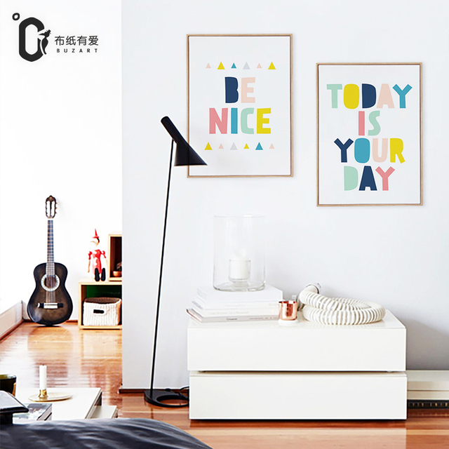 blessing kidsroom decoration painting creative canvas paintings modern simple bedroom murals wall paintings no