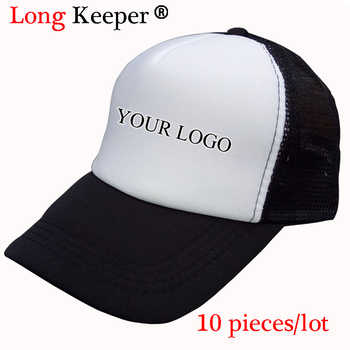 Long Keeper Men Women Custom Trucker Caps Free Logo Photo Print Adult Mesh Hats Adjustable Snapback Personalized Gorra 10pcs/lot - DISCOUNT ITEM  15% OFF All Category