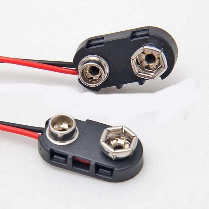 10Pcs Nieuwe Snap Op 9 V (9 Volt) Batterij Clip Connector Hard Shell