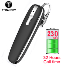 TEBAURYY Handsfree Business Bluetooth Earphone Headphones Wireless Bluetooth Headset with Microphone Voice control for Phone PC