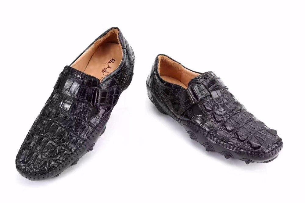 Duradera Piel Cocodrilo Hombre Envío De Negro Calidad Moda Para Zapatos Gratis Hombre Auténtica 2018 Alta Sólida Sq0xHgA