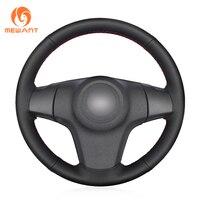 Black Artificial Leather Car Steering Wheel Cover for Chevrolet Niva 2009 2017 (3 Spoke) Vauxhall Corsa (D) Opel Corsa (D)