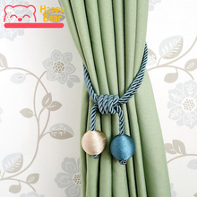 Happy Bear Curtain Accessories Window Decorative Curtain Tieback Polyester Woven Curtain Tassel Solid Color Curtain Accessories