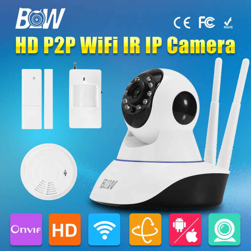 BW Double Antennas HD 720P Security Camera Wireless IP Wifi PTZ Automatic Sensor Alarm System Surveillance CCTV CMOS Endoscope bw wireless wifi door