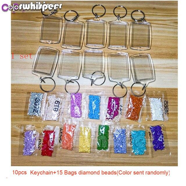 10 portachiavi + 15 borse di Pietre (colore Trasmetterà A Caso) fai da te Fatti