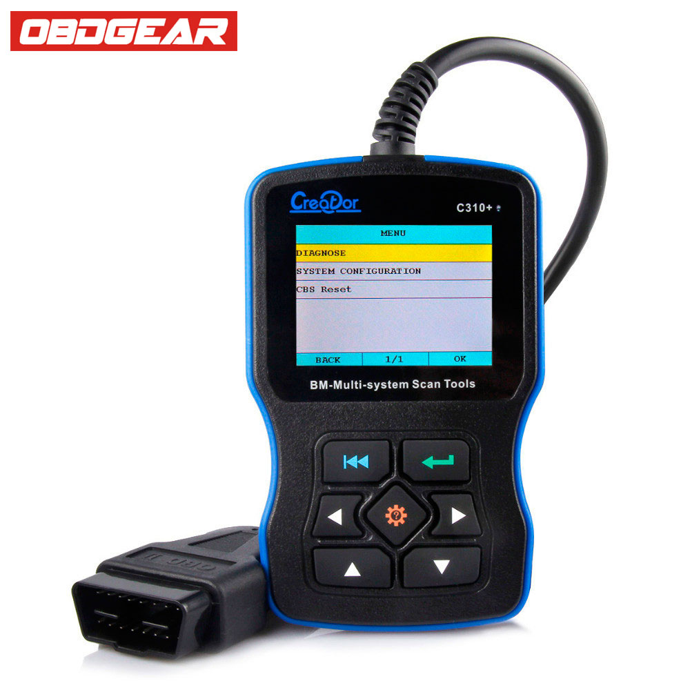 OBD OBD2 AutoScanner For BMW Creator C310+Diagnostic Scan Tool for BMW 7.0 Creator C310+ OBD2 Scanner EOBD CAN Code Reader 100% original launch creader 519 odb obd2 scanner for obd2 can eobd jobd cars cr519 diagnostic tool free gift brake fluid tester