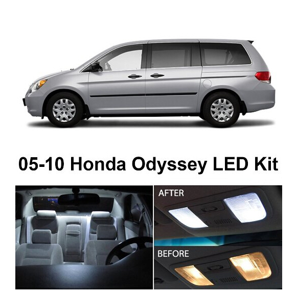 Free Shipping 9pcs Lot Car Styling Xenon White Package Kit Led Interior Lights For Honda Odyssey 2005 2010 In Signal Lamp From Automobiles Motorcycles On