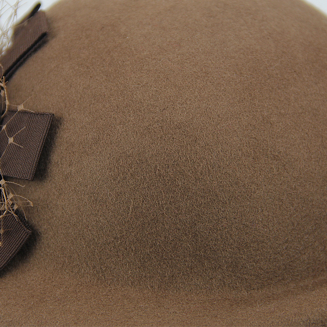 قبعات صوف 100% حريمي للخريف والشتاء قبعات رسمية للحفلات مصنوعة من الصوف