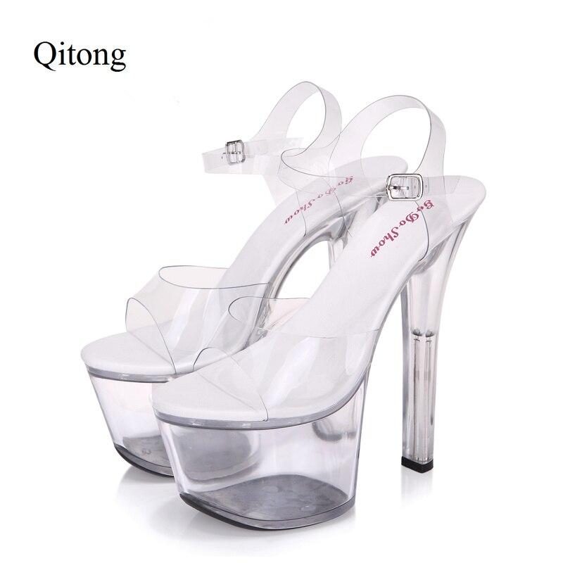 Euro Size 34-44 PU Woman 15 and 17cm High Heels Platform Sandals Nightclub Woman High Heeled Birthday Party Shoes for T Station tsc tdp 225 suc с отрезчиком