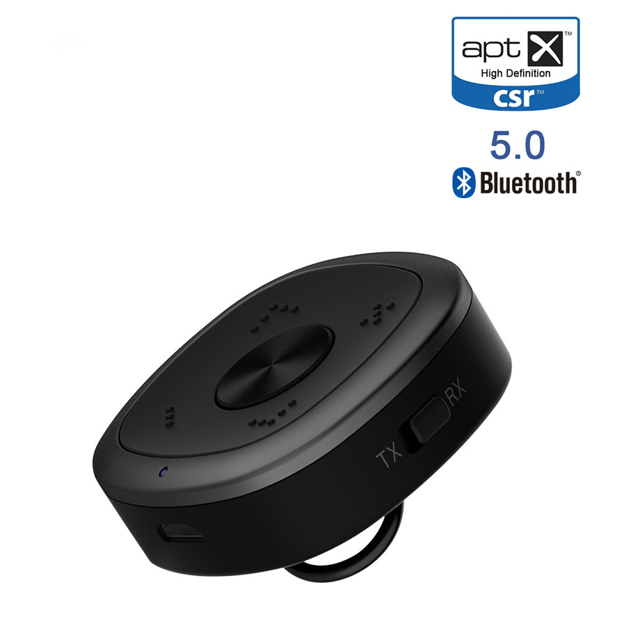 VIKEFON Bluetooth 5.0 Audio Transmitter Receiver CSR8675 Aptx HD Adapter 3.5mm AUX Wireless Receiver for Car TV Headphones Speak multipoint wireless bluetooth transmitter for audio tv 3 5mm jack aptx music aux bluetooth 4 0 adapter for two headphones