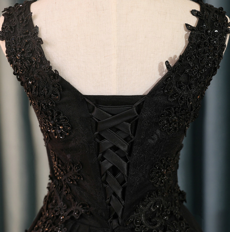 Sexy Black Prom Dresses Short 2018 Burgundy Prom Dress V Neck Appliques Beading Lace Up Cheap Women Cocktail Party Gown Casual 11
