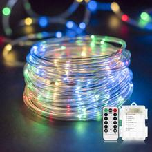 купить Battery Operated Waterproof 10M 100 LED Rope Tube String Lights for Indoor Outdoor Christmas Garden Party Wedding Holiday Lights по цене 935.28 рублей