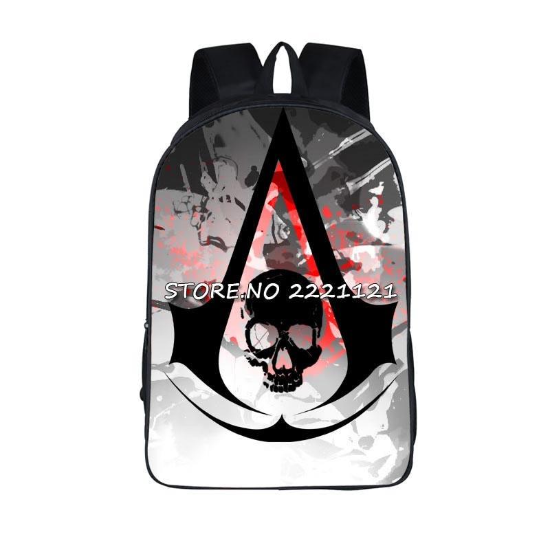 Assassin Creed Backpack Children School Bags For Teenager Boys Students School Backpacks Assassins Creed Bag Mochila assassins creed cosplay backpack men school bags official assassins creed syndicate logo school backpacks bag rucksack