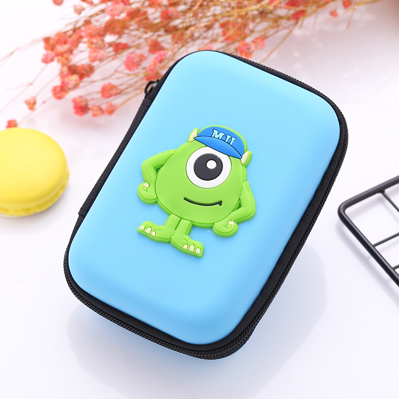 Novelty Cartoon Anime Silicone Coin Purse Mini Small Earphone Cable Charger Storage Bags Gifts Boy Girls Zipper Coin Key Wallets
