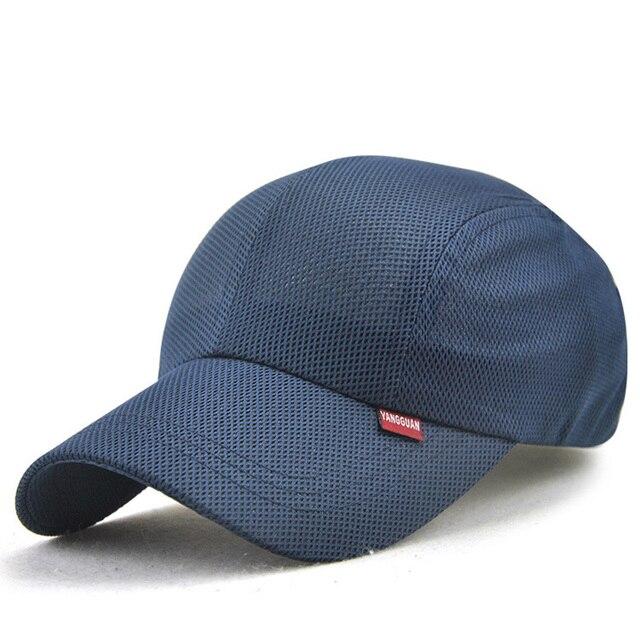 a54112424e7b5 2018 nuevos hombres mujeres gorra de béisbol verano Color sólido sombrero  de malla transpirable deporte al