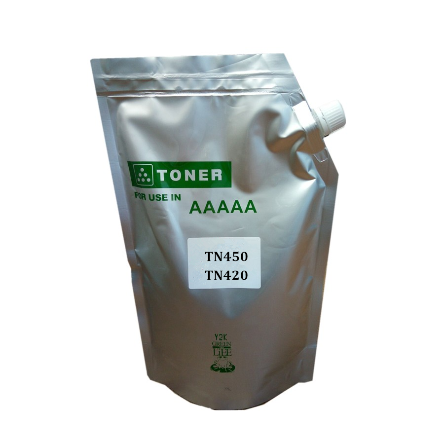 Refill-Toner-Powder Black 1kg Compatible for Tn450/Tn-450/Tn-420/Tn420 2250DN/2270DW title=