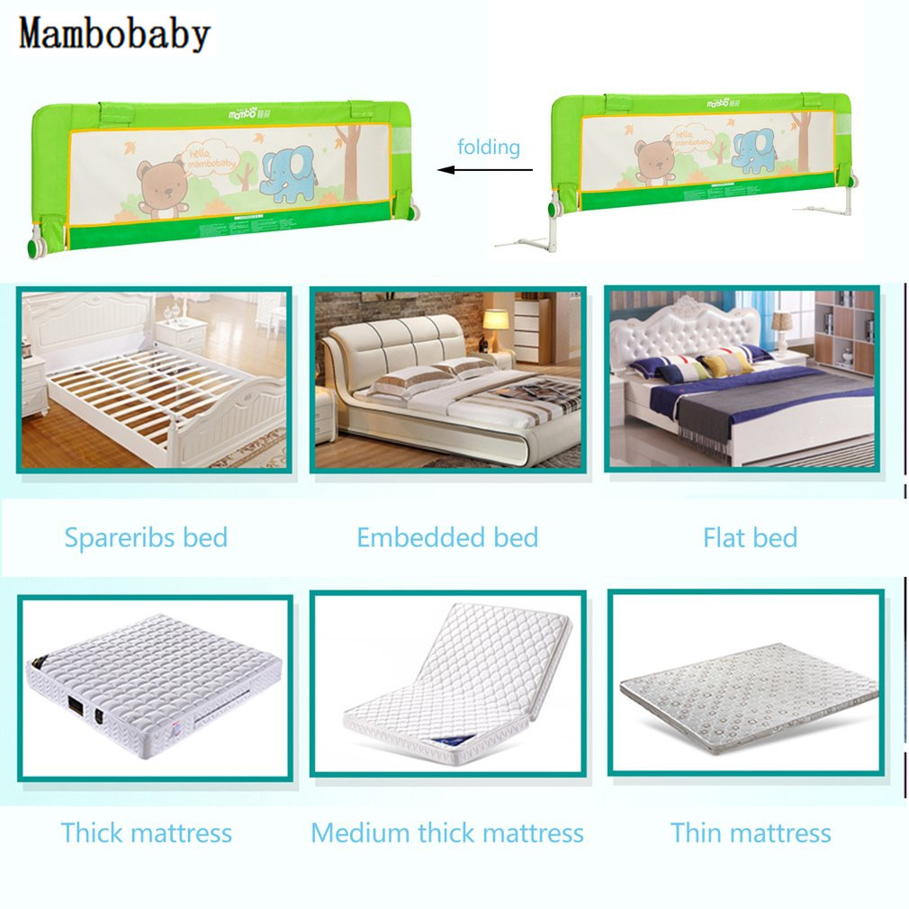 Baby Bed Safety Rails Guard Heightening Fence Guardrail Crib Rails For Buffer-type Infant Bebe Safe Bumper 1.5 / 1.8 meters