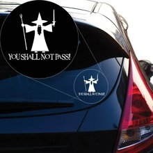 Lord of The Rings You Shall Not Pass Vinyl Decal Sticker  840 4 X 49 White Car Stickers  Car Stickers and Decals