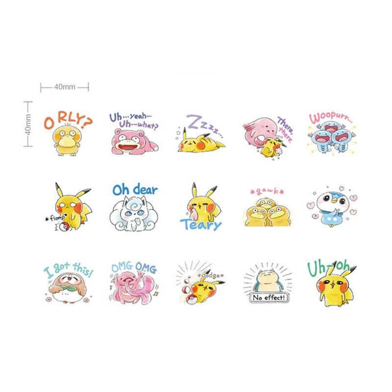 Купить с кэшбэком 45pcs/lot Cartoon Pet elf Mini Paper Stickers Decoration DIY Scrapbooking Kawaii Sticker Stationery label stickers