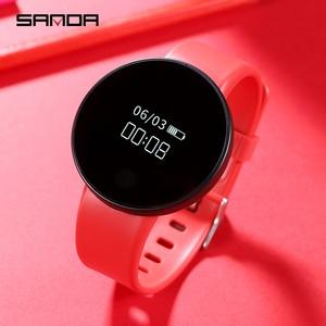 Image 2 - SANDA Reloj de pulsera SD3 para hombre y mujer, reloj de pulsera deportivo con pantalla táctil OLED, contador de pasos, recordatorio inteligente
