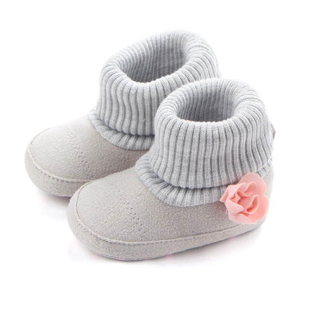 sports shoes 11680 26d99 Autumn Winter Newborn Baby Girl Shoes Crib Pram Knitted Snow boots Kids  Keep Warm Flower Boot 0 12M j2-in Boots from Mother & Kids on  Aliexpress.com | ...