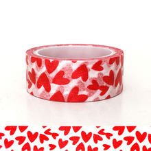 20pcs/set Spot Red Valentines Day DIY Decorative Sticker Handbook and Paper Love Washi Tape Wholesale Factory