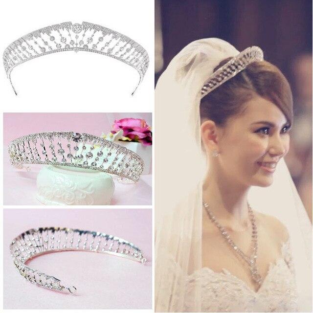 Kunming Ling Casado Com Fundo de Noiva Uma Coroa Coreano Modelagem Do Vestido de Casamento Da Princesa Coroa de Strass Acessórios de cabelo Headwear