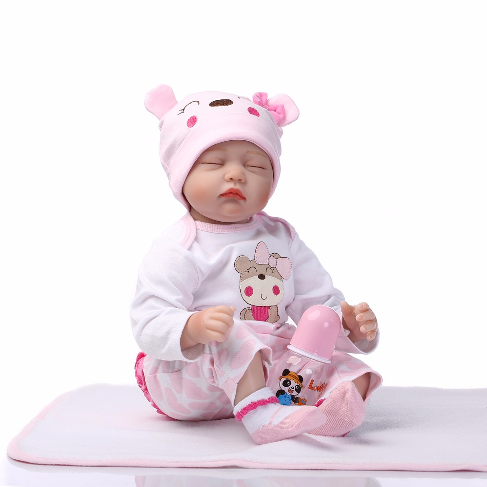 NPK New Arrival 22inch Reborn Baby Doll Real Life Like Reborn Doll Baby girl Realistic Handmade