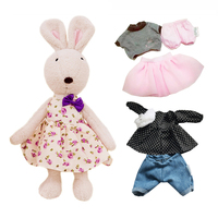 1 Rabbit 3 Sets Of Clothes Original Le Sucre Bunny Rabbit Plush Dolls Stuffed Kids Toys