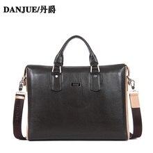 DANJUE 2014 Genuine Leather Briefcase men handbag briefcases laptop bag Business bags Shoulder Bag Tote Messenger bag 3170