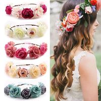 M8738 Bohemia Flower Floral Hairband for Women Crown Headband Party Wedding Bride Beach Headwear Ornament Hair Accessories