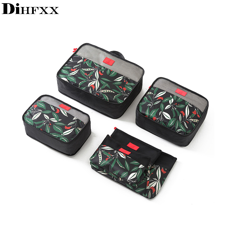 DIHFXX 6Pcs/set Packing Cube Travel Bags Portable Large Capacity Clothing Sorting Organizer Luggage Accessories Supplies Product