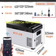 22L AC/DC12/24V auto vehicle camping Refrigerator Cooler Home Fridge Compressor small Freezer fridge ice box Cool-20 Deg.C