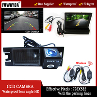 FUWAYDA Wireless ColorCCD Car Rear View Camera waterproof for HYUNDAI IX35 / I35 / Tucson with 4.3 Inch foldable LCD TFT Monitor